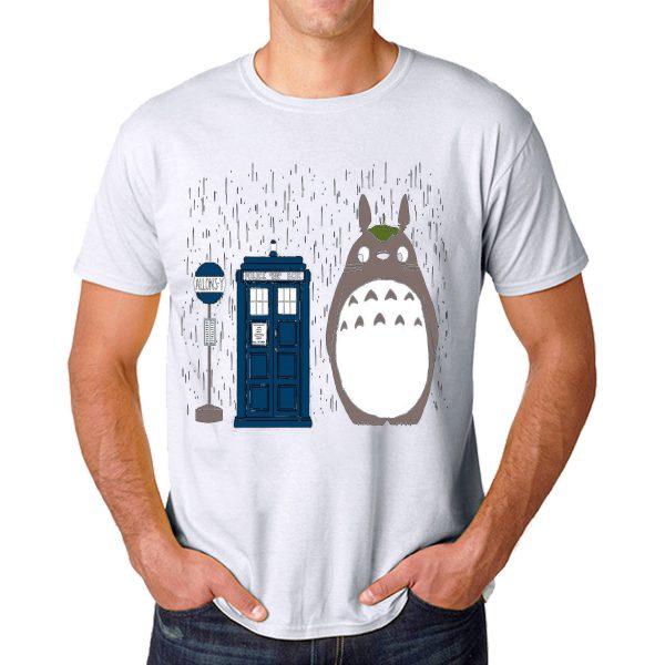 Tshirt Allons-y Totoro [TGrey]