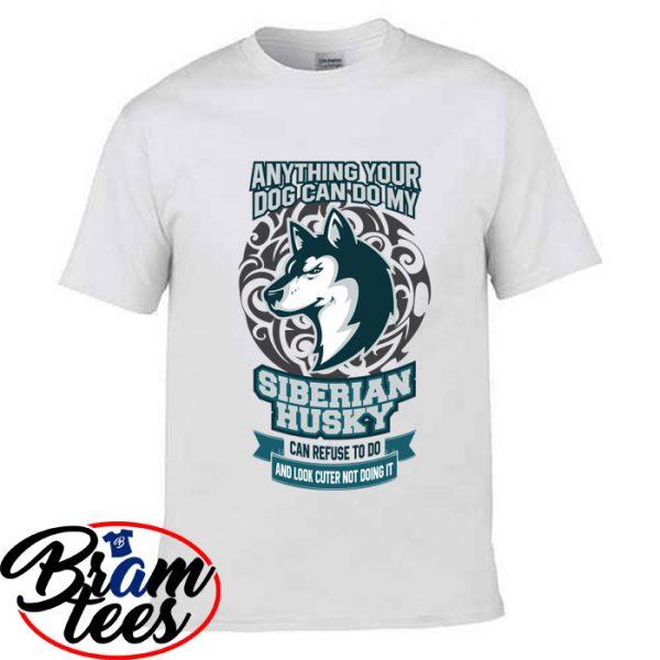 Tshirt Dog lover siberian husky shirt