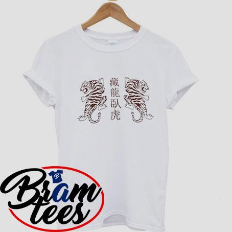 Tshirt Twin tigers design shirt