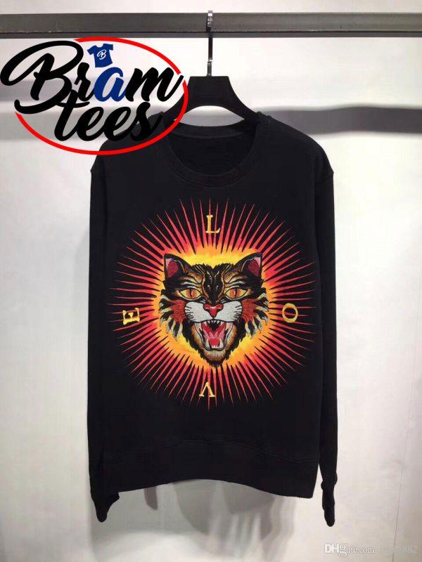 sweatshirt angry cat sun tiger love sweatshirt