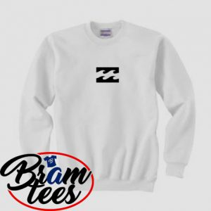 sweatshirt horizontal white fire bilabong design sweatshirt