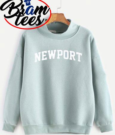 sweatshirt newport simple cute kawaii sweatshirt