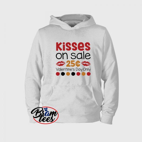 Hoodies valentine day kisses on sale